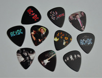 Lots of 20Pcs Rock Band AC/DC ACDC  2 sides printing Guitar Picks  Plectrum Medium Size 0.71mm