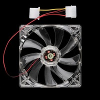 New Arrival 4 LED Blue 120mm Fans cooler for Computer PC Case cool Cooling wholesale