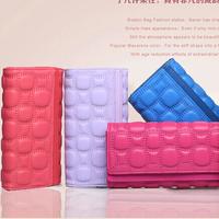 Free Shipping! New Fashion Stone Pattern Woman Girls Long Leather Wallet Business Credit ID Card Holder Women Clutch Handbag