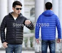 free shipping New Winter jacket Man's Outerwear Hooded Down Jacket Men Winter WarmDown Coat Men Light White Duck Down