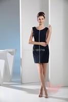 Slim black mini section of prom dress.