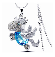 hot sell New style Horse Crystal long chain Necklaces High Quality Free Shipping 4pcs per lot