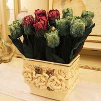 The simulation flower flower art Ou spend tulip flowers Table flowers home decoration decoration
