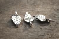 40pcs-- Leaf charms, Antique Tibetan silver Leaf Charm Pendant 19x9mm