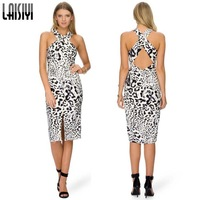 Wholesale 2014 New Women sexy women white and black sleeveless mesh sexy knee length dress celebrity evening Party Dresses