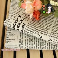 Fluid cloth - - news paper cotton linen canvas fabric 2 color coffee black