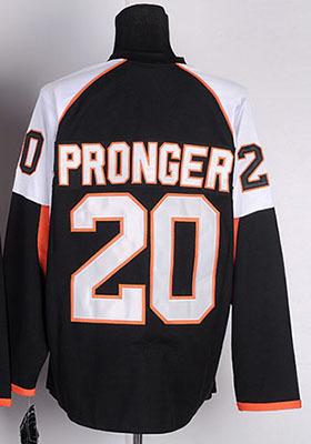 Size Small-4XL,5xl#20 Chris Pronger Jersey black White Philadelphia Embroidery Logo customized Hockey Jersey(China (Mainland))