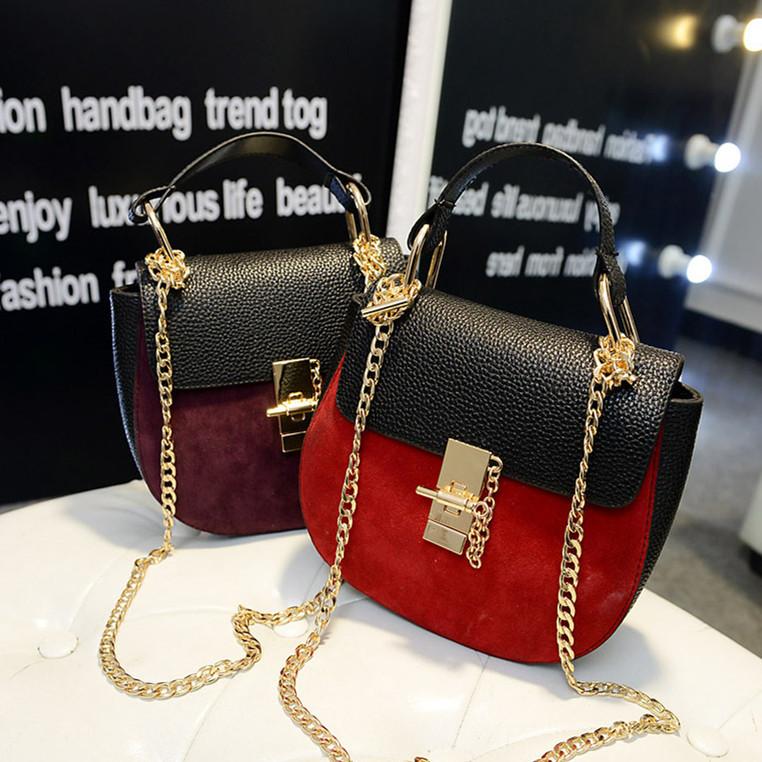 New fashion brand chain handbag shoulder hand inserting lock small bags wholesale market bag lady(China (Mainland))
