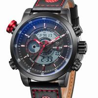 WEIDE 3401 Men's Fashion Casual Sports Watch Quartz Digital LED Back Light Military relogio masculino 30m Waterproof Men Watches