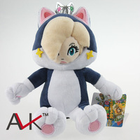 "1PCS New 2014 Super Mario NEW 3D World Princess Rosalina Cat Plush Toys With Crown Soft Doll For Girl 7""18cm Free Shipping"
