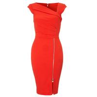2015 Fashion Sleeveless Dress Women's  Red Pencil Dress Women V-Neck Casual Dresses  ZHX