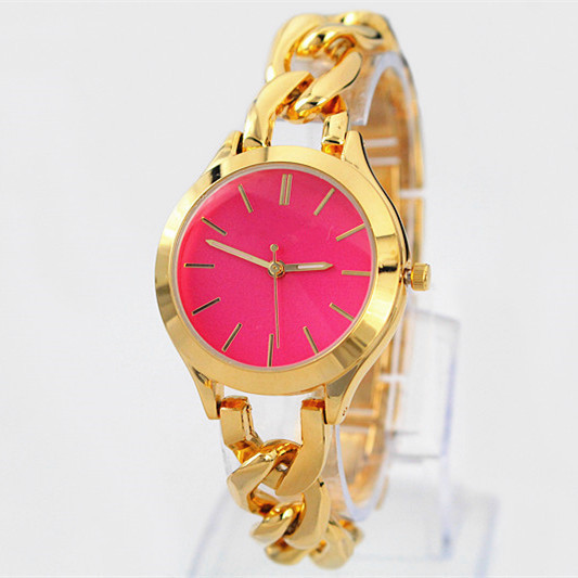 New Model Fashion red dial bracelet women wristwatches luxury design lady watch Stainless steel japan movement