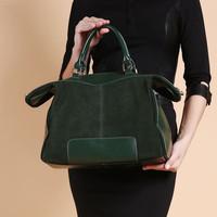 2014 New 100%Guarantee Genuine Leather bag Large Tote Nubuck Women handbag