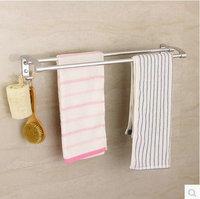 New Wholesale Bathromm Double Rods Towel Bras hanging Space Aluminum Towel Rack with Hooks Washroom Shelves