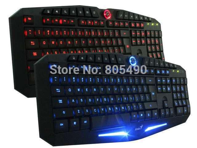Genius K9 USB LED Illuminated Ergonomic Backlight Back Light Professional Pro Gaming Game Keyboard For Gamer(China (Mainland))