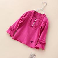 Baby Girls Spring T shirts New Clothing Kids Princess Fashion Organic Cotton Wear Kids Knitted Brand Children Clothing 4pcs/lot