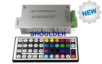 Top quality Aluminum shell 24A 12-24V DC 44key IR Remote Led RGB Controller for led strio/led light