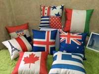 US / Union Jack/ France/ Italy /Switzerland /Scotland /Germany /Australia /Canada Flag Linen Cotton Pillow Cover/ Cushion cover