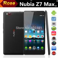 "Original ZTE Nubia Z7 Max FDD LTE 4G smartphone  5.5"" FHD Snapdragon801 Quad Core 2.5GHz 2GB Ram 32GB Android 4.4 NFC GPS 13.0MP"