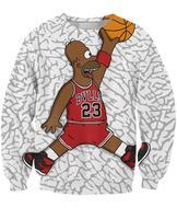 2014 long sleeve cartoon homer simpons air basketball 3d printed funny creative lover's sweatshirt tops hoodies for woman man