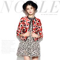 Mi14121838 fashion fashion abstract print slim coat