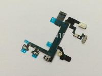 500pcs/lot High quality new switch on/off power flex cable for iphone 5S free shipping by DHL EMS