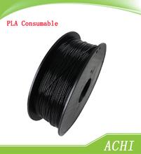 Black color 3D Printer Filament 1kg/2.2lb 1.75mm PLA Plastic for MakerBot RepRap Mendel