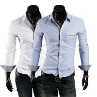 5colors известный бренд мужской контраст цвета длинные o шеи t рубашки тонкий подходят мужчины тройники случайные культур топы тенниска