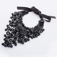 High Quality  Lace Necklaces & Pendants Necklace Women's Fashion Statement Antique Jewelry Pendant