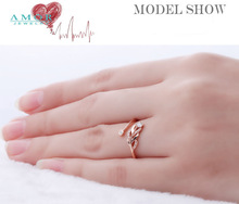 AMOR BRAND THE FLOWER OF LOVE SERIES 100 NATURAL DIAMOND 18K ROSE GOLD RING JEWELRY JBFZSJZ276