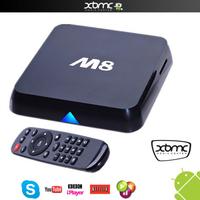 Amlogic 8726 M8 S802 Quad Core Android TV Box Android4.4 OS XBMC/KODI 4K 2.4GHz 2GB 8GB Bluetooth wifi H265 HD media Player