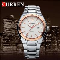 Luxury CURREN Men Full Steel Quartz Dress Wristwatch Date 3ATM Waterproof Man Business Casual Watches Gift Clock Male