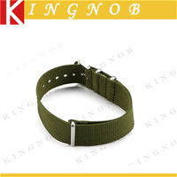 18mm Watch Strap Olive Nylon Nato Watch Band 3 Brushed Rings Military Replacement Watchband Diving Bracelet for Sports Hours 18