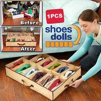 12 Pairs Fabric Intake Organizer Holder Shoes Box S7NF