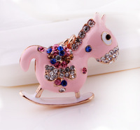 Cool Hee Korea creative cute little horse jewelry exquisite package ornaments key chain ring creative gifts