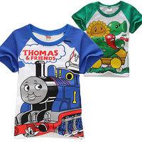 Classic Boys Clothes Kids Girl T shirt Short Sleeve Top 1-7Y Sweatshirt