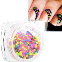 Hot Fashion 1 Box 1mm-2mm Mixed Mini Round Thin Nail Art Glitter Paillette HY26 free shipping