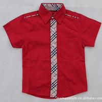 CS25 new 2015 camisa menino boy shirt 2-7 age short sleeve boys shirt free shipping 5pcs/ lot