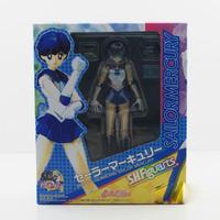 Free shipping 1pc New Arrival 14cm Sailor Moon smart Mercury Mizuno Ami PVC Figure Collection Model Christmas Gift