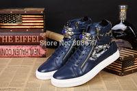New Sneakers 2014 GZ Men Autumn Sports Shoes Platform Sequin Buckle Jewel Winter Fashion High Top Shoes