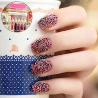 Colorful beads nail art stickers caviar nail decal nail art decoration kit free shipping #XS713