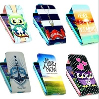For Samsung Galaxy S5 i9600 Case High Quality Cartoon Design Magnetic Holster Flip PU Leather Cases Cover D1155-A
