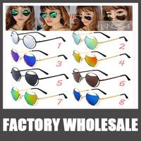 UV 400 Retro Heart-Shaped SunGlasses 2015 New Vintage Gafas Metal Peach Heart Personality Sunglasses Oculos De Sol Feminine