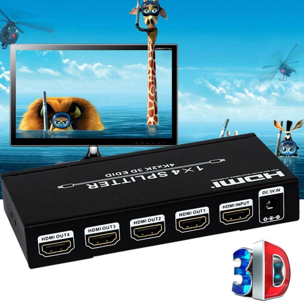 HDMI V1.4a HDMI Matrix 1 Input to 4 Output Switch Switcher Splitter Amplifier 3D 4k*2k 48bite Deep Color Video Converter(China (Mainland))
