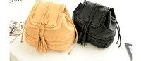 Free Shipping Knitting Tassel Bag PU Leather Crossbody Shoulder Bucket Bag Messenger Bag