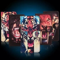 200pcs fashion Design King of the Forest Tiger Head leather Case for iphone 6 4.7/5.5 inch,DHL free shipping