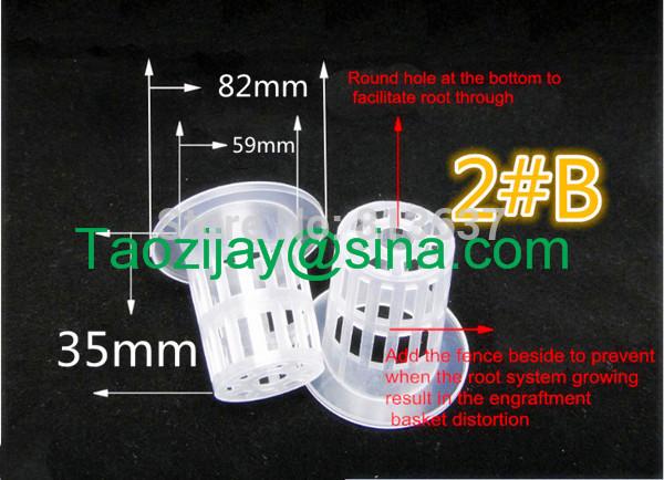 Free shipping 2#B 15pcs 1.5 inch seed Mesh net pot vegetables basket NET cup system pots planting nursery Hydroponics(China (Mainland))