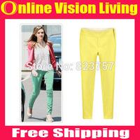 Plus Size  S M L XL New Hi-Q 2015 Fashion candy color Leggings pencil Pants boot pants Good Look Women Elastic Pants A0716