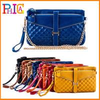 High Quality 2015 Genuine Leather Women Day Clutch Small Handbags Chain Shoulder Bag Women Clutch