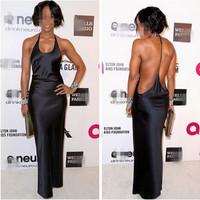 New European Fashion Sexy Halter Women Bandage Dress Nightclub Evening Party Dress Off The Shoulder Midi Celibrity Black Dresses